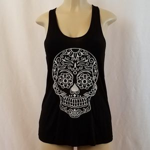 Bear Dance Day of the Dead Embroidered Tank